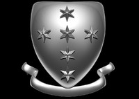 shield crest 3d obj