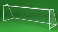 Soccer Goal 3D Model (low poly)