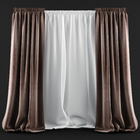 curtains blinds modern style 3d model