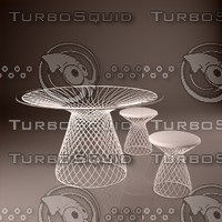 3d model table stools