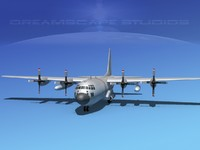 3d 3ds cargo lockheed c-130 hercules air