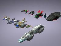 ships mobile games 3d model