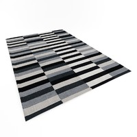 Carbon stripe rug