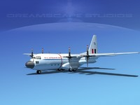 cargo lockheed c-130 hercules air 3d 3ds