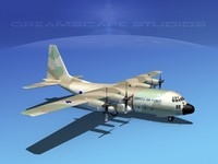 3d model cargo lockheed c-130 hercules air