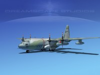 3ds max cargo lockheed c-130 hercules air