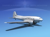 3d model of douglas dc-3 air