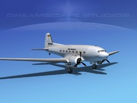 3ds max dc-3 douglas air