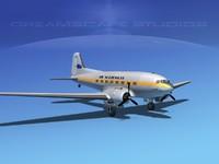dc-3 douglas air dxf