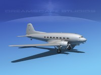 3d model dc-3 base douglas