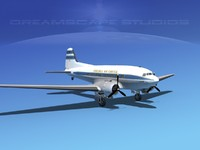 3d model of dc-3 douglas air
