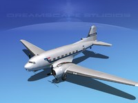 3d model of dc-3 douglas