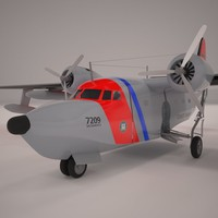 hu-16 albatross 3d 3ds
