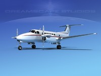 propellers beechcraft super king air 3d model
