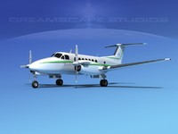 propellers beechcraft super king air 3d max