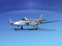 3ds max propellers beechcraft c-6 transporting