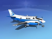 propellers beechcraft c-6 transporting 3d 3ds