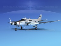 3d model propellers beechcraft c-6 transporting