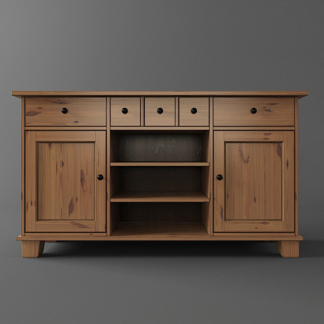 ikea buffet 3d model. Black Bedroom Furniture Sets. Home Design Ideas