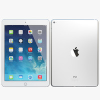 3ds realistic apple ipad air