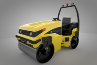3d max vehicle road roller
