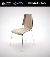 3d model of ikea vilmar chair
