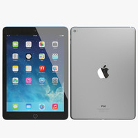 3d model realistic apple ipad air