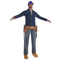 3d max worker man