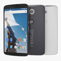 google nexus 6 motorola 3d model