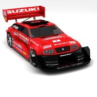 3d model suzuki escudo pikes peak