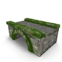 3ds max ancient stone bridge