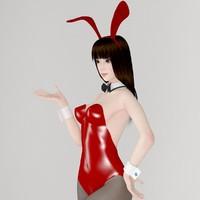 posed girl akari bunny max