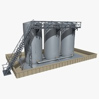 3d model industrial elements