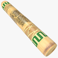 3d model rain stick