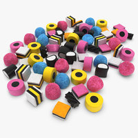 3d licorice allsorts pose 2