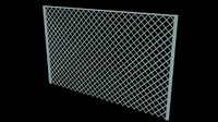 3ds max module chain link fence