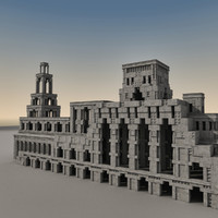3d model of ancient fantasy building