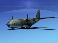 3d model aircraft c-27 spartan transports