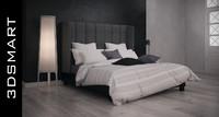 3d bed bedroom