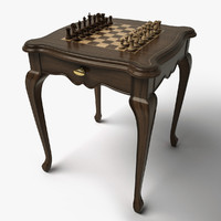 3d chess table hd