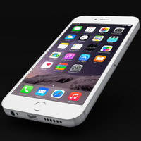 iphone 6 white 3d obj