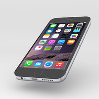 3d model iphone 6 black