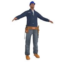 worker man 3d max