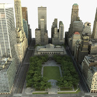 3d max manhattan district 03 city
