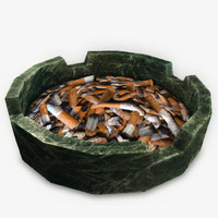 3ds max ashtray cigarette