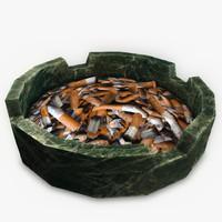 3ds max ashtray cigarette