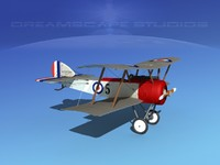 3d model cockpit fighter sopwith pup