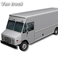 3d model of walk van truck