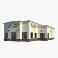 3d model subway restaurant