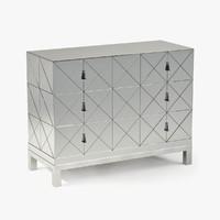 century mirrored drawer chest obj